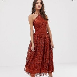 ASOS rust dress Brand new without tags